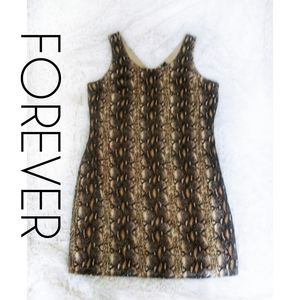 🆕 Forever Snake Print Mini Sheath Dress -XL